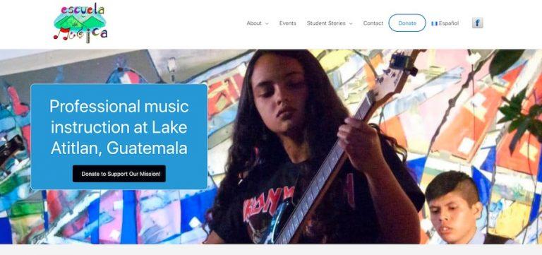 Screenshot of the Atitlan Music School website