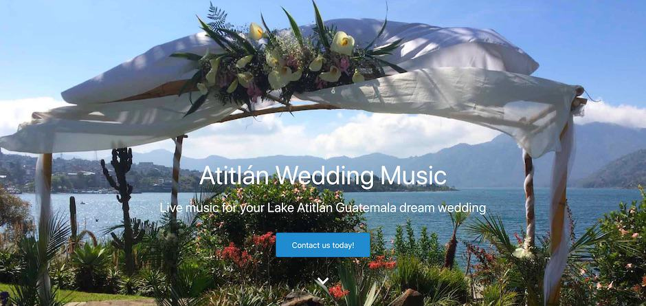 Screenshot of the Atitlan Wedding Music website