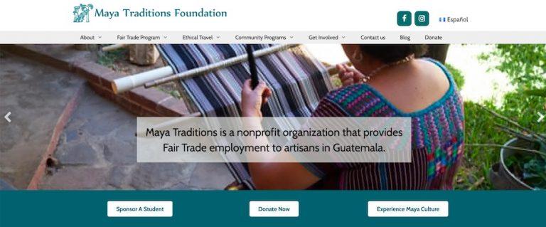 Screenshot of the Maya Traditions website